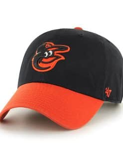 Baltimore Orioles 47 Brand Black Orange Clean Up Adjustable Hat
