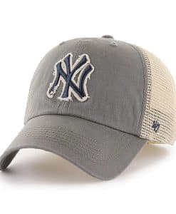 New York Yankees 47 Brand Charcoal Rayburn Mesh Franchise Fitted Hat