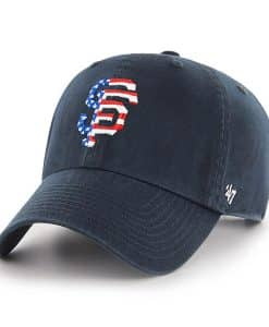 San Francisco Giants Red White & Blue 47 Brand Navy Clean Up Adjustable Hat