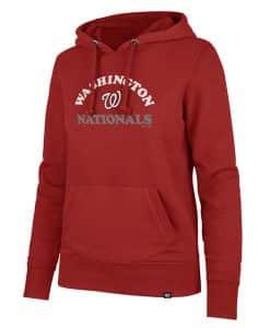 Washington Nationals Women's 47 Brand Red Headline Pullover Hoodie