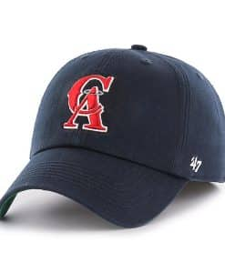 check out ead95 fee26 Los Angeles Angels 47 Brand Navy Classic Franchise Fitted Hat