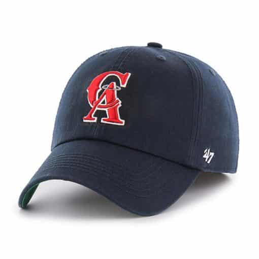 Los Angeles Angels 47 Brand Navy Classic Franchise Fitted Hat