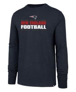 New England Patriots Men's 47 Brand Navy Long Sleeve Pullover Shirt