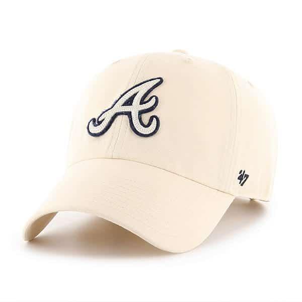 Atlanta Braves 47 Brand Natural Clean Up Adjustable Hat