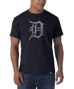 Detroit Tigers Flanker T-Shirt Mens Fall Navy 47 Brand