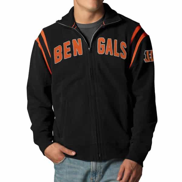 Cincinnati Bengals Heisman Track Mens Jet Black Jacket Jet Black 47 Brand