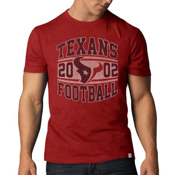 Houston Texans Scrum T-Shirt Mens Rescue Red 47 Brand