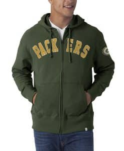Green Bay Packers 47 Brand Men's Non Core Green Full Zip Hoodie