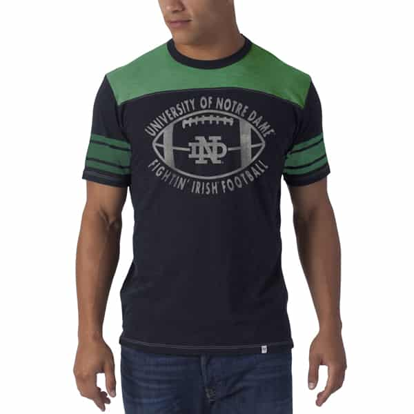 Notre Dame Fightin Irish Top Gun T-Shirt Mens Fall Navy 47 Brand