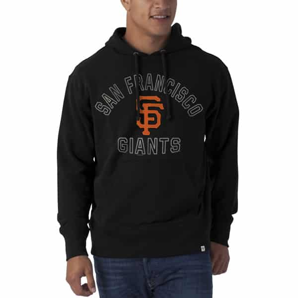San Francisco Giants Striker Pullover Mens Jet Black 47 Brand