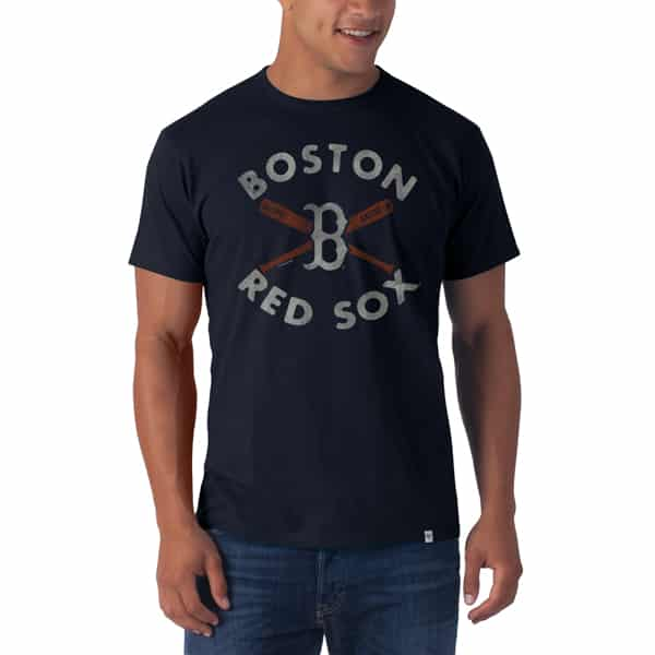 Boston Red Sox Flanker T-Shirt Mens Fall Navy 47 Brand