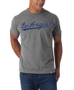 Los Angeles Dodgers Fieldhouse T-Shirt Mens Slate Grey 47 Brand