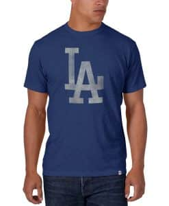 Los Angeles Dodgers Scrum T-Shirt Mens Bleacher Blue 47 Brand