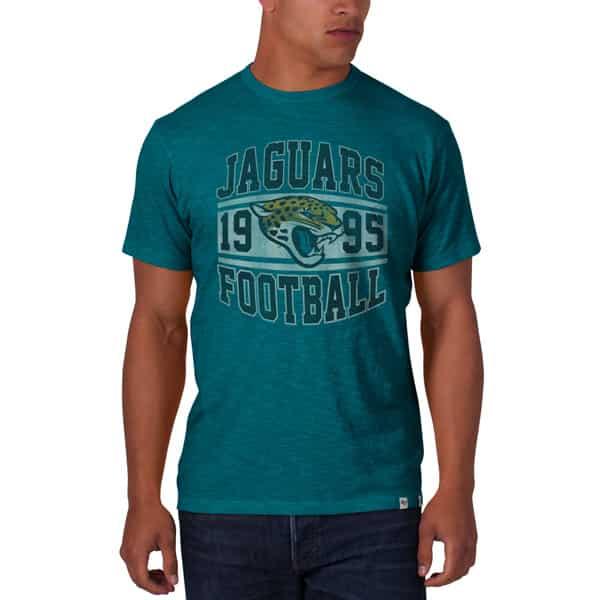 Jacksonville Jaguars Scrum T-Shirt Mens Shark'S Teal 47 Brand