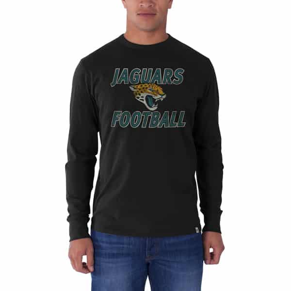 Jacksonville Jaguars Long Sleeve Flanker T-Shirt Mens Jet Black 47 Brand