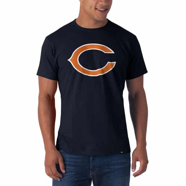 Chicago Bears Frozen Rope T-Shirt Mens Slim Fall Navy 47 Brand