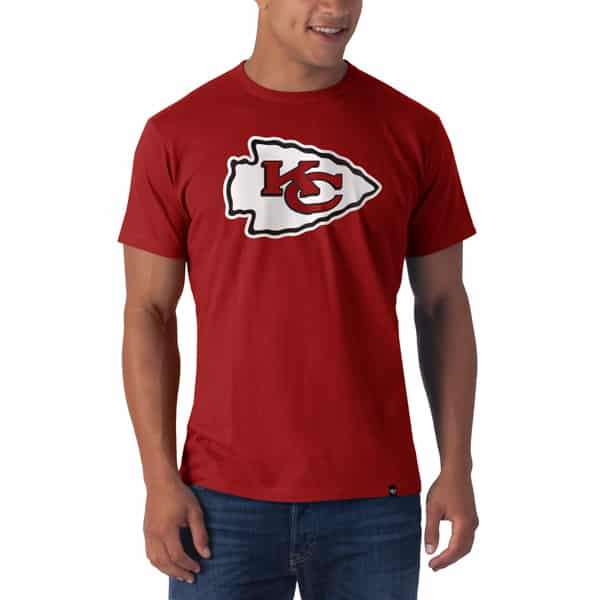 Kansas City Chiefs Frozen Rope T-Shirt Mens Slim Rescue Red 47 Brand