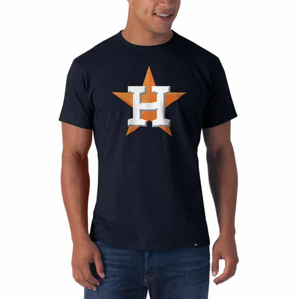 Houston Astros Frozen Rope T-Shirt Mens Slim Fall Navy 47 Brand