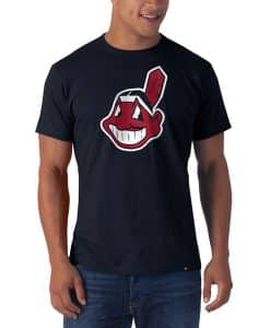 Cleveland Indians Frozen Rope T-Shirt Mens Slim Fall Navy 47 Brand