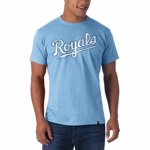 Kansas City Royals Frozen Rope T-Shirt Mens Slim Carolina 47 Brand