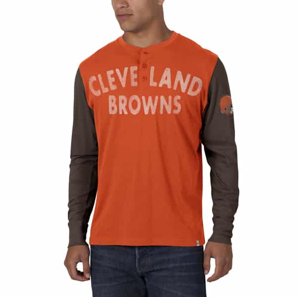 Cleveland Browns Homefield Henley Mens Orbit Orange 47 Brand