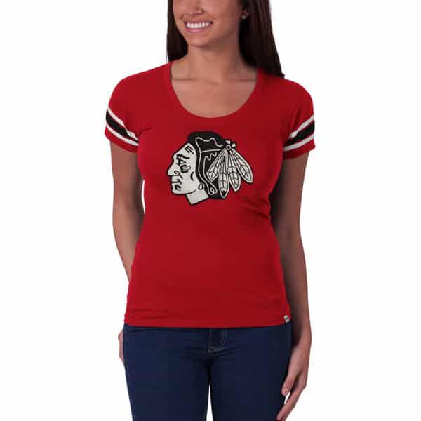 Chicago Blackhawks Off Campus Scoop Womens Rebound Red 47 Brand