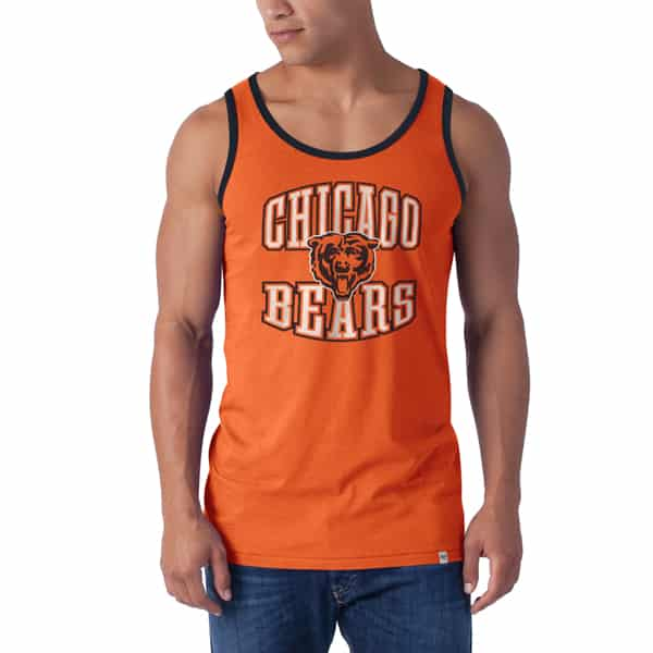 Chicago Bears Till-Dawn Tank Top Mens Carrot 47 Brand