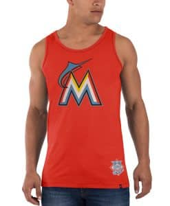 Miami Marlins Sure Shot Till-Dawn Tank Top Mens Slim Thunder 47 Brand