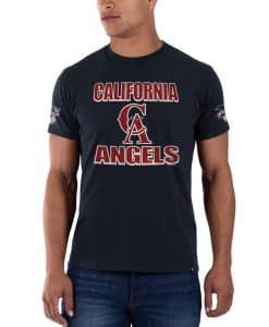 Los Angeles Angels Sure Shot Frozen Rope T-Shirt Mens Slim Fall Navy 47 Brand