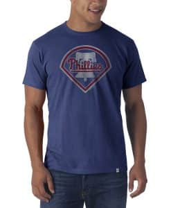 Philadelphia Phillies Flanker T-Shirt Mens Bleacher Blue 47 Brand