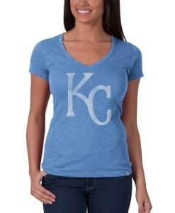 Kansas City Royals V-Neck Shirt Scrum T-Shirt Womens Carolina 47 Brand