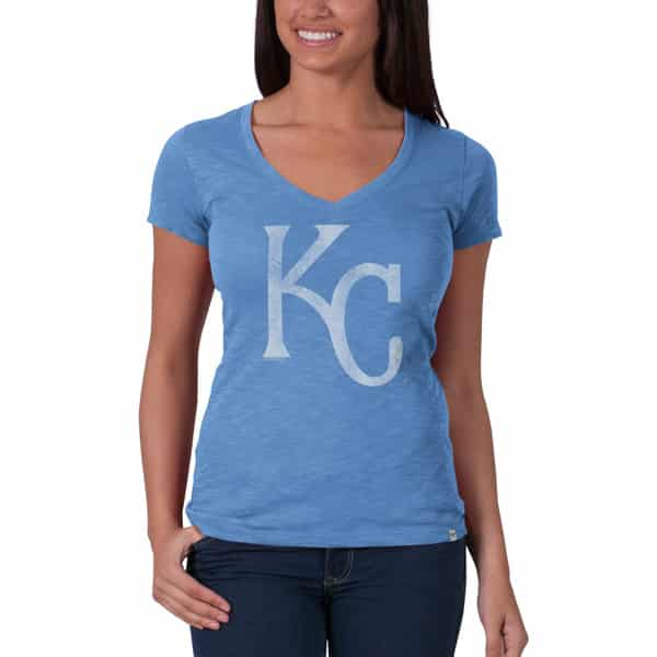 Kansas City Royals V-Neck Shirt Scrum T-Shirt Womens Carolina 47 Brand