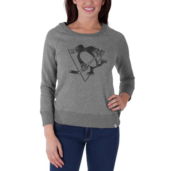 Pittsburgh Penguins Glimmer Crew Womens Shirt Slate Grey 47 Brand