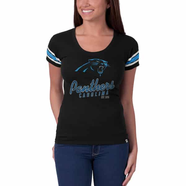 Carolina Panthers Off Campus Scoop Womens Jet Black 47 Brand