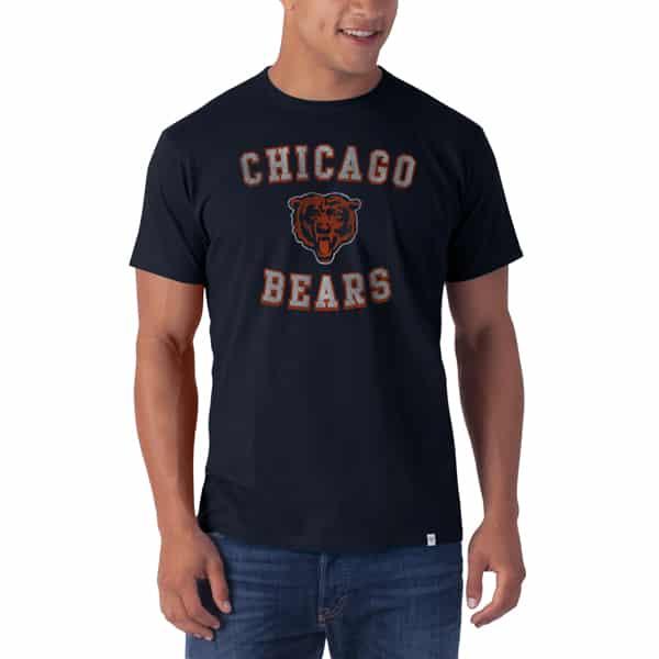 Chicago Bears Knockaround Flanker T-Shirt Mens Fall Navy 47 Brand