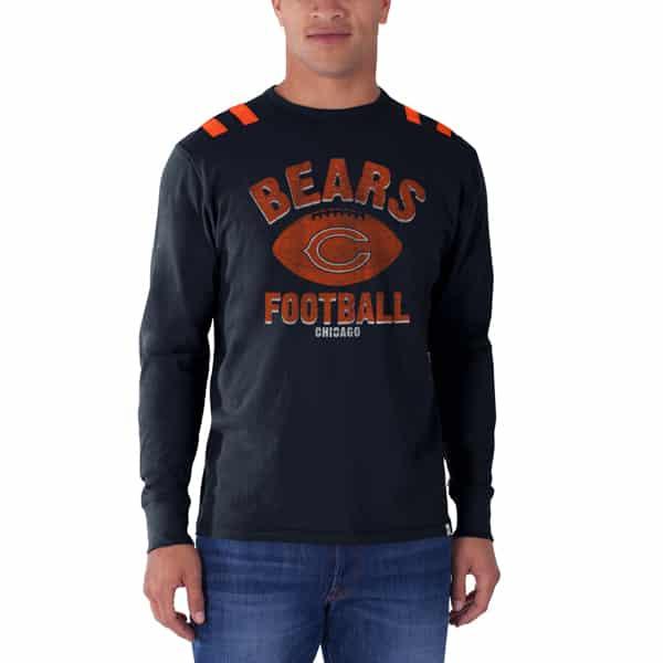 Chicago Bears Bruiser Long Sleeve T-Shirt Mens Fall Navy 47 Brand