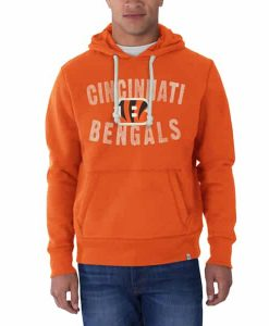 Cincinnati Bengals Cross-Check Pullover Hoodie Mens Carrot 47 Brand