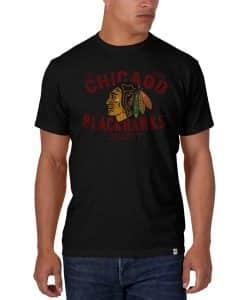 Chicago Blackhawks Scrum T-Shirt Mens Jet Black 47 Brand