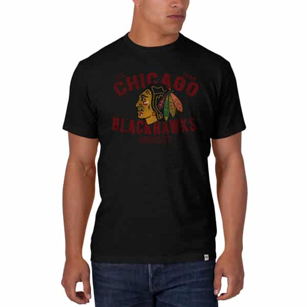 Chicago Blackhawks Scrum T-Shirt Mens Jet Black 47 Brand