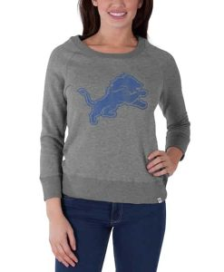 Detroit Lions Glimmer Crew Womens Shirt Slate Grey 47 Brand
