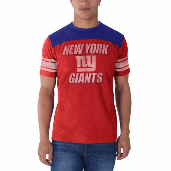 New York Giants Title Run T-Shirt Mens Rebound Red 47 Brand