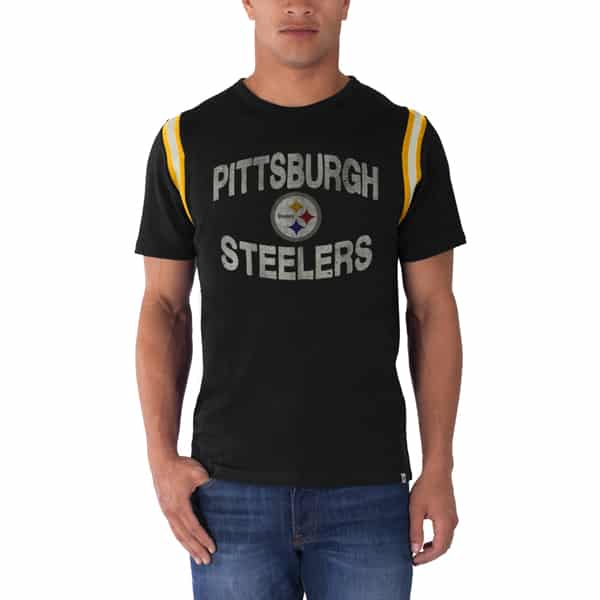 Pittsburgh Steelers First String T-Shirt Mens Jet Black 47 Brand