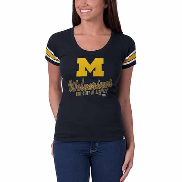 Michigan Wolverines Off Campus Scoop Womens Fall Navy 47 Brand