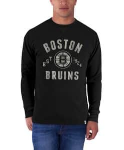 Boston Bruins Stadium Waffle Mens Jet Black 47 Brand