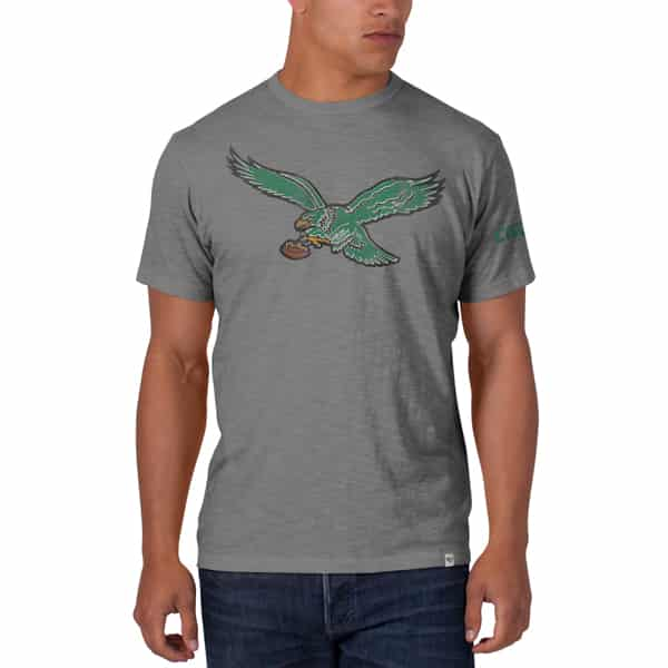 Philadelphia Eagles Scrum T-Shirt Mens Wolf Grey 47 Brand