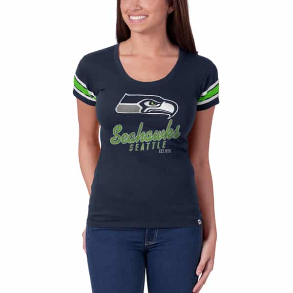 Seattle Seahawks Off Campus Scoop Womens Midnight 47 Brand