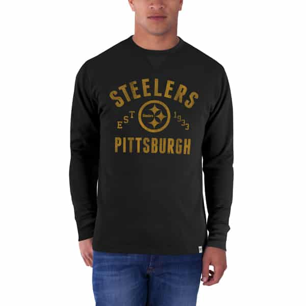 Pittsburgh Steelers Stadium Waffle Mens Jet Black 47 Brand