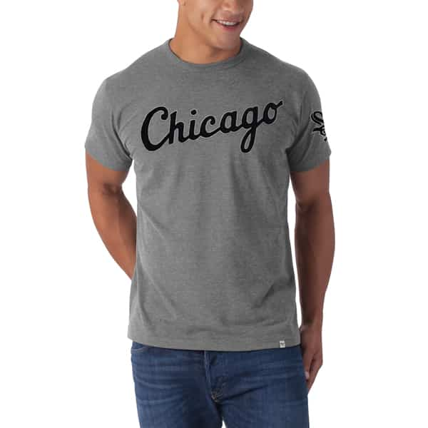 Chicago White Sox Fieldhouse T-Shirt Mens Slate Grey 47 Brand