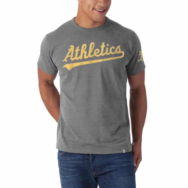 Oakland Athletics Men's 47 Brand Fieldhouse Gray T-Shirt Tee