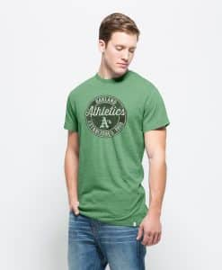 Oakland Athletics Tri-State T-Shirt Mens Cash Green 47 Brand